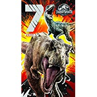 JURASSIC WORLD JW001 Age 7 Birthday Card