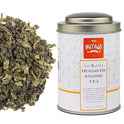 Miyagi Tea - Iron Buddha - Tie Guan Yin - Thé Oolong de première qualité - 5.29oz (150g)/boîte en fer blanc