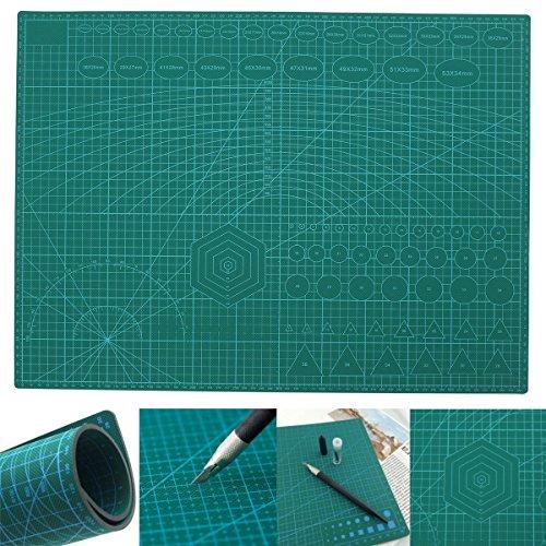 KUNSE A2 PVC Doppel Gedruckt Self Healing Schneidematte Craft Quilten Scrapbooking Board (Quilten Tabelle)