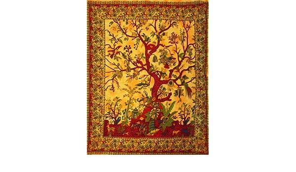 Kunst Hippie Tapisserie Wand Bohemien kleine Wand hängen Wurf Baum des Lebens