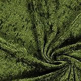 Fabulous Fabrics Pannesamt dunkeloliv – Weicher SAMT Stoff zum Nähen von Kleider, Oberteile, Tücher und Tischdecke - Pannesamt Dekostoff & Bekleidungsstof- Meterware ab 0,5m