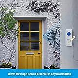 Kabellose Türklingel, VicTsing Homasy IP55 wasserdicht Tragbares Funkklingel Set, Wireless Digital Doorbell, 1 Empfänger & 1 Sender, 52 Klingeltöne, 4-Level Volume, 300m Reichweite--weiß -
