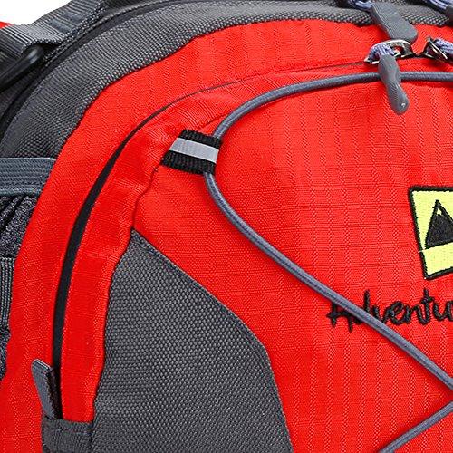 Leichtes Sport Outdoor Hüfttaschen-Pack von AdventureAustria. Wasser-beständiges Material Bauchtasche Gürteltasche Abenteuer-Gurt, geeignet für Fitness Radfahren Jogging-Wandern mit dem Hund Spazieren Rot