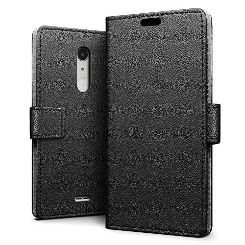 Alcatel A3 XL Hülle, SLEO PU Leder Case Tasche Schutzhülle Flip Case Wallet im Bookstyle für Alcatel A3 XL Cover - Schwarz