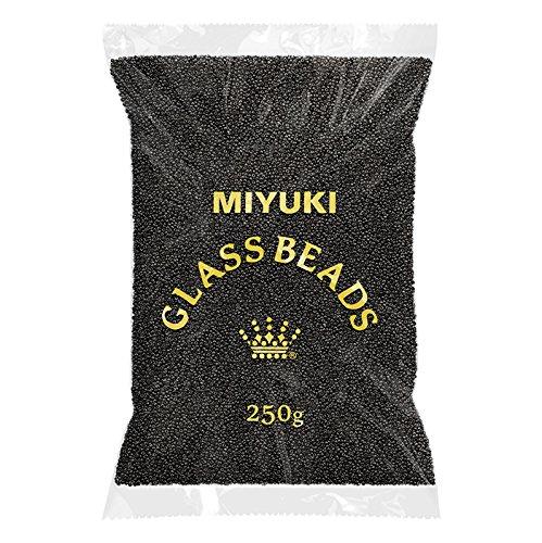 Großhandel von Miyuki rund Rocailles Größe 11/0schwarz 250g (Miyuki 11/0 Runde)