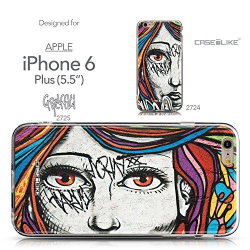 CASEiLIKE Comic Beschriftung 2914 Ultra Slim Back Hart Plastik Stoßstange Hülle Cover for Apple iPhone 6 / 6S Plus (5.5 inch) +Folie Displayschutzfolie +Eingabestift Touchstift (Zufällige Farbe) 2725