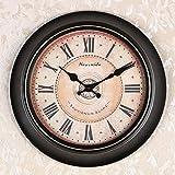 OLILEIOContinental Retro moderne, minimalistische kreative Persönlichkeit Mute Armbanduhr Quarzuhr amerikanische Schlafzimmer Wohnzimmer Uhr Second Hand (14 Zoll, 16 Zoll) ,16 Zoll, 13 Kurzwahleinträge