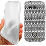 CUSTODIA COVER CASE AZTEC BLACK PER SAMSUNG GALAXY TREND PLUS S7580
