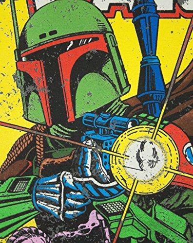 Star Wars Herren Boba Fett Comic T-Shirt S,Schwarz