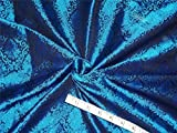Seide Brokat Stoff blau x schwarz Farbe 111,8cm Zoll