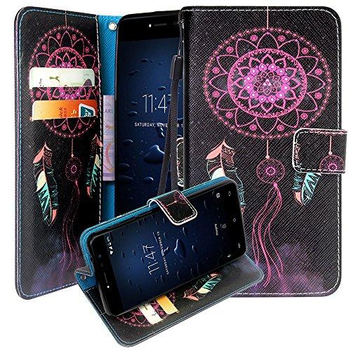CMID CUBOT Note Plus Hülle, PU Leder Brieftasche Handytasche Flip Bookcase Schutzhülle Cover mit [Kartensteckplatz] [Magnetverschluss] [Ständer] [Handschlaufe] für CUBOT Note Plus 5,2 Zoll (A-01)