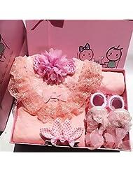 SHISHANG Regalo de regalo del bebé Caja de regalo Niño Niña Regalos de bebé para 0-12 meses Recién nacido 93% Algodón + 7% Spandex Four Seasons Gift Bag , B