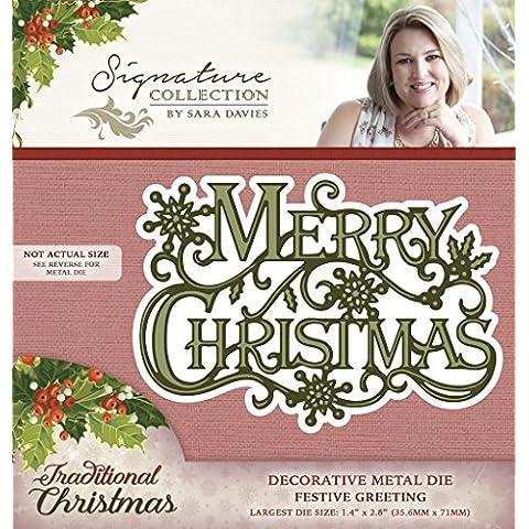 Sara Davies collezione Natale–auguri di Natale - Greet Scheda