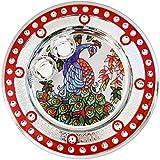 Icrafts India Diwali Red Pooja Puja Thali Tilak Decorative Platter Set
