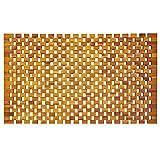 indoba Badmatte Duschmatte Badvorleger, Holz, Holzfarben, 80 x 50 cm
