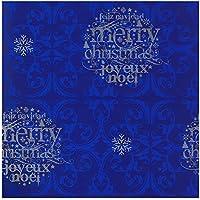Wonder Wrapper –Rotolo di Carta da Regalo, larghezza: 62 cm Feliz Navidad - Merry Christmas - Joveux Noel sfondo blu 62