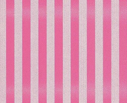Parato a rayas blanco y fucsia con purpurina de Vinilo a relieve Italian Wallpaper Design Bling Bling 3151-37.
