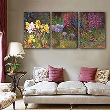 Xiuxiandianju 3PCS flores de pintura decorativa cuadros sin marco sala comedor den conjuntos de pasillo de tres pinturas que viven , 50*70cm*3pc
