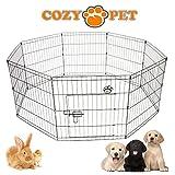 Cozy Pet Puppy box per cani cuccioli conigli porcellini d' india, Puppy box parto penna cane gabbia Crate Puppy Rabbit Run 3taglie disponibili–PP01...