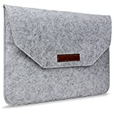 "MOCA™ Wool Soft Sleeve carry Case Bag pouch for All 15.4"" inch Laptop 15.4"" inch Laptop, for Apple MacBook Pro 15"" 15.4 inch with / without Retina Display sleeve bag pouch case cover (Gray)"