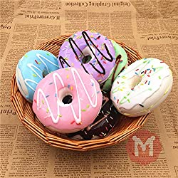 bureze 10 cm Cute Donuts Big Pan charms Kawaii Squishy suave bolsa llavero correas Decoración