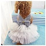 Famhome Hund Frühling Sommerkleid Kleider Mode schöne Sommer süßer Welpe Hund Haustier Kleid Hunde Prinzessin Haustier Mantel Kleid Kostüm 1#: Brust ca. 14 Zoll hinten 10,9 Zoll Blau