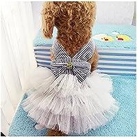 Coversolat Hundekleidung Welpen Hundekleider Prinzessin Kleid Blumen Hochzeitskleid Spitzenkleid Katzen Hund Kleider Kleine Hunde Kleidung