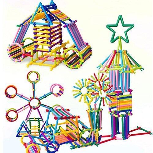 Millya - Juego de 400 Piezas de plástico Creativo y Educativo, para construcción de pajitas