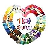 100 Colori Matassine Punto Croce Fili Cotone Ricamo Dmc Telaio Ricamo Croce Punch Needle Kit Filo Di Seta Ago Magico Cordoncino Filo Da Ricamo In Cotone Impostato Per Punto Croce