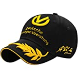 ShiningLove Fashion Einzigartige Weizen Stickerei Star Schumacher Signature Hat Hip-Hop Baseball Cap