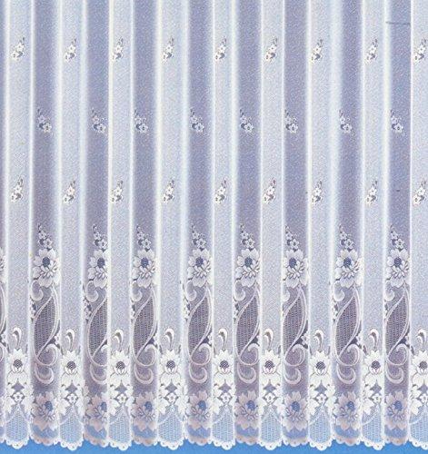 Fertig-Store Jacquard mit Kräuselband, transparent, Farbe weiß Größe HxB 160x300 cm