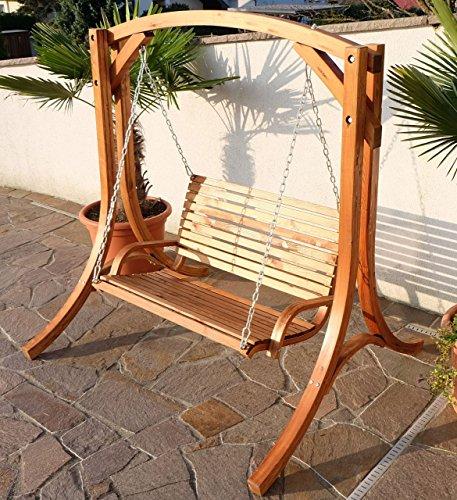 Design Hollywoodschaukel Gartenschaukel Hollywood Schaukel KUREDO-OD aus Holz Lärche von AS-S - 3