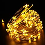 Quace 50 LED 5m AA Battery Powered Copper String Light Powered Diwali Christmas Festival