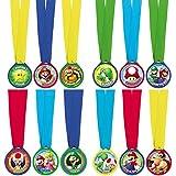 Super Mario Bros - Mini Award Medals, 12 Unidades (Amscan 396611)