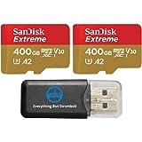 SanDisk Extreme (UHS-1 U3 / V30) A2 400GB MicroSD (2 Pack) Memory Card for GoPro Hero 9 Black Action Cam Hero9 SDXC…