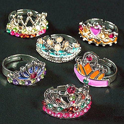 German Trendseller 6 x Prinzessin Ringe für Mädchen ┃ Fee ┃ Cinderella ┃ Mitgebsel ┃ 6 Zauberhafte Ringe┃ Mädchengeburtstag (Cinderella-ring)
