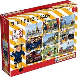 Sam Le Pompier - 9 Puzzles en 1 Pack (2x12 pièces, 2x24 pièces, 3x35 pièces, 2x50 pièces)