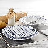 veweet 'Joyce' Servizio da tavola Stoviglie in porcellana 36 pezzi Servizio per piatti | Piatto per12 persone | Ognuno con 12 piatti da dessert,12 piatti di zuppa 12 piastra piatta