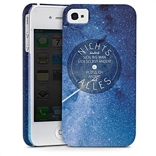 Apple iPhone X Silikon Hülle Case Schutzhülle Leben Motivation Weisheit Premium Case glänzend