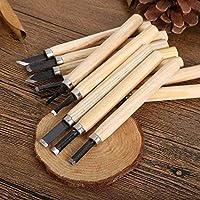 APURK Hand Wood Carving Chisels Knife for Basic Woodcut Working DIY Hand Tool 12Pcs/Set