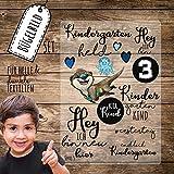 Bügelbilder Kindergarten Set mit Otter & Sprüche Applikation Kita Bügelbild Bügelmotiv Aufbügelbilder bb116 ilka parey wandtattoo-welt®