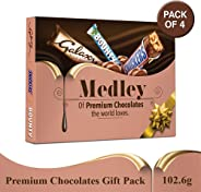 SNICKERS Medley Assorted Chocolates Gift Pack (Snickers, Bounty, M&M's, Galaxy), 410.4g (Pack of 4)