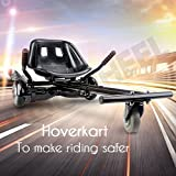 KOOWHEEL Hoverboard Hover Kart Self Balancing Scooter Karting Seat For 6.5, 8 ,10 inch Two Wheels Self Balancing Scooters With Telescopic Rod 2nd Generation Hoverkart Set