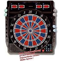 Karella Dartautomat CB-50, elektronische Dartscheibe mit 27 Spielen und 159 Spielvarianten, exakte Turniermaße in 2-Loch…