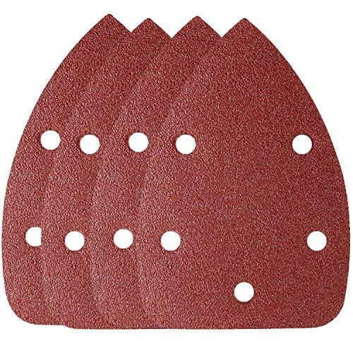 150 Grit-hook (OxoxO 65pcs Mouse Sander Pads Sanding Sheets Aluminum Oxide Hook & Loop 140mm 5 Hole 150 Grits Sanding Paper)