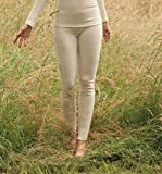 Damen lange Unterhose, 100% Merinowolle (kbT), Gr. 38/40 - 46/48 (46/48, Natur)