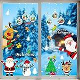 Sofenny Autocollant De Noël Décoration NoëL Boule De Neige Stickers Muraux Amovibles Mur De FenêTres en Vinyle De La Maison DIY Décoration Murale