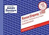 AVERY Zweckform 1703 Kassa-Eingang speziell für Österreich (A6 quer, 3x40 Blatt) weiß/gelb/rosa