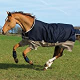 Horseware Amigo Mio Turnout medium 200g -Navy & Tan with Navy, Groesse:130