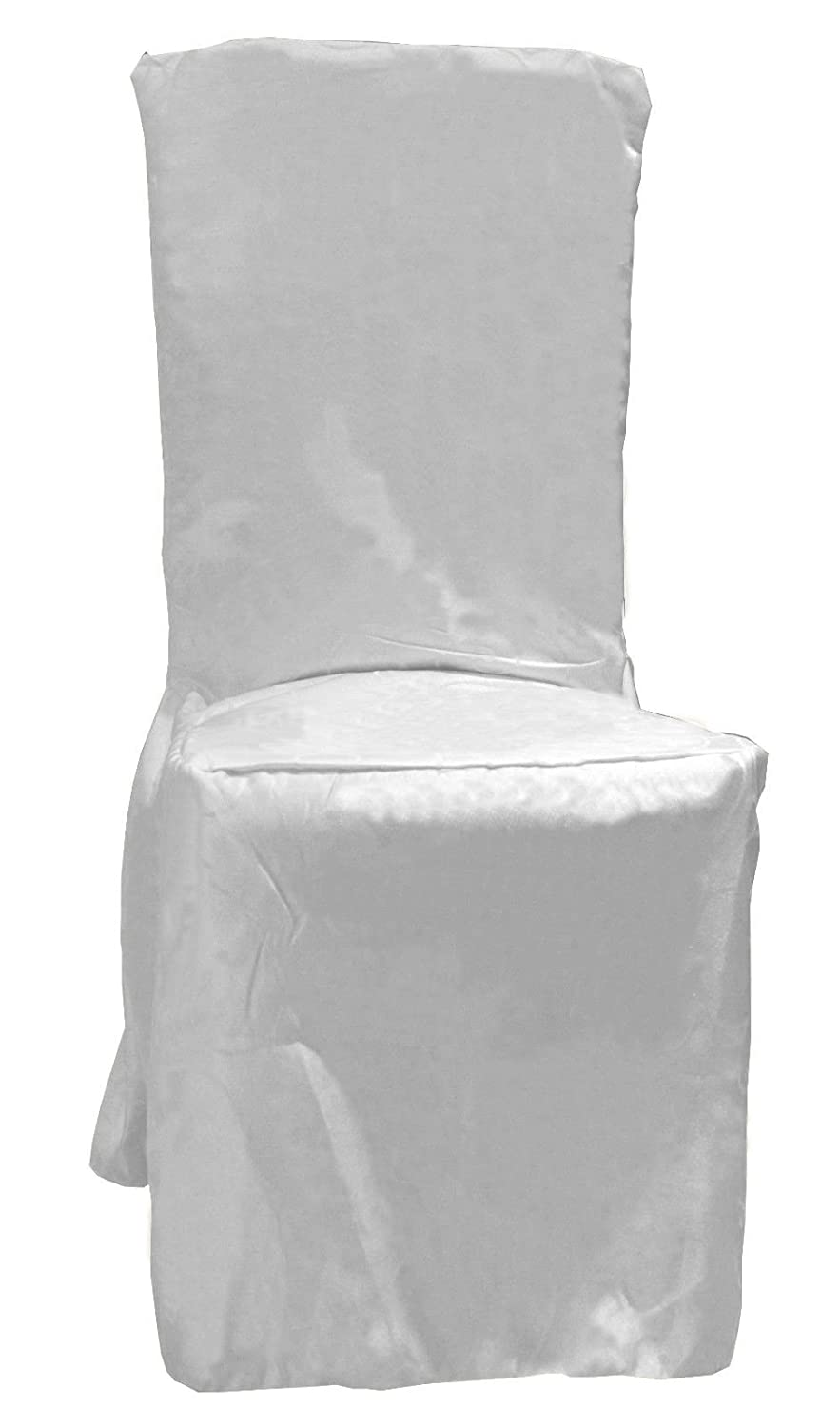 DINING CHAIR COVERS PLAIN WITH PLEATS IN 3 COLORS (White): Amazon.co.uk:  Kitchen U0026 Home Part 86